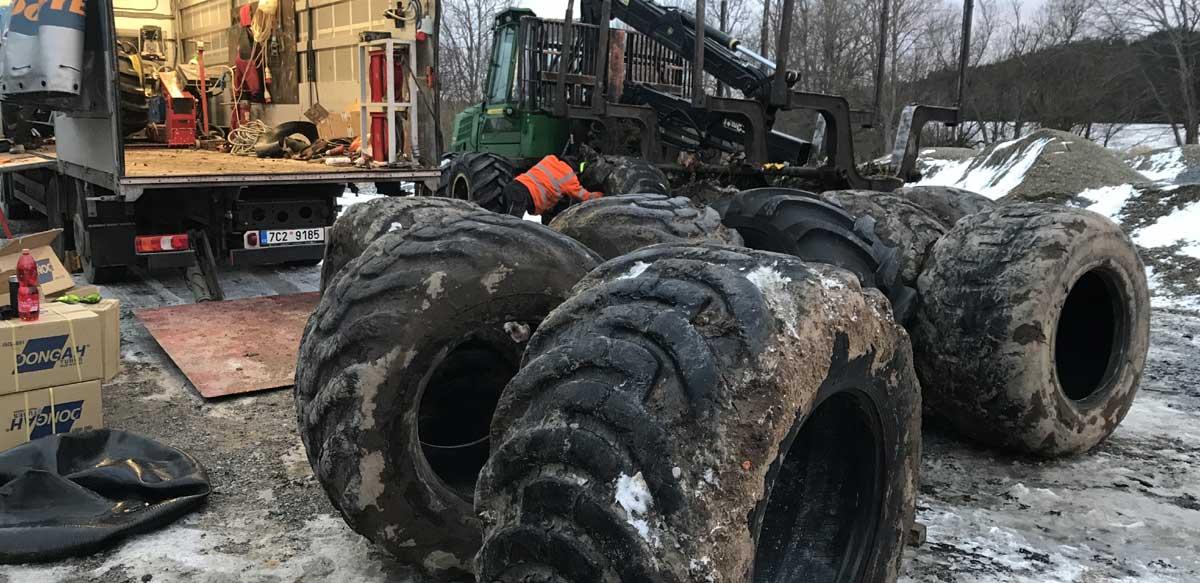 Odvoz starých pneu